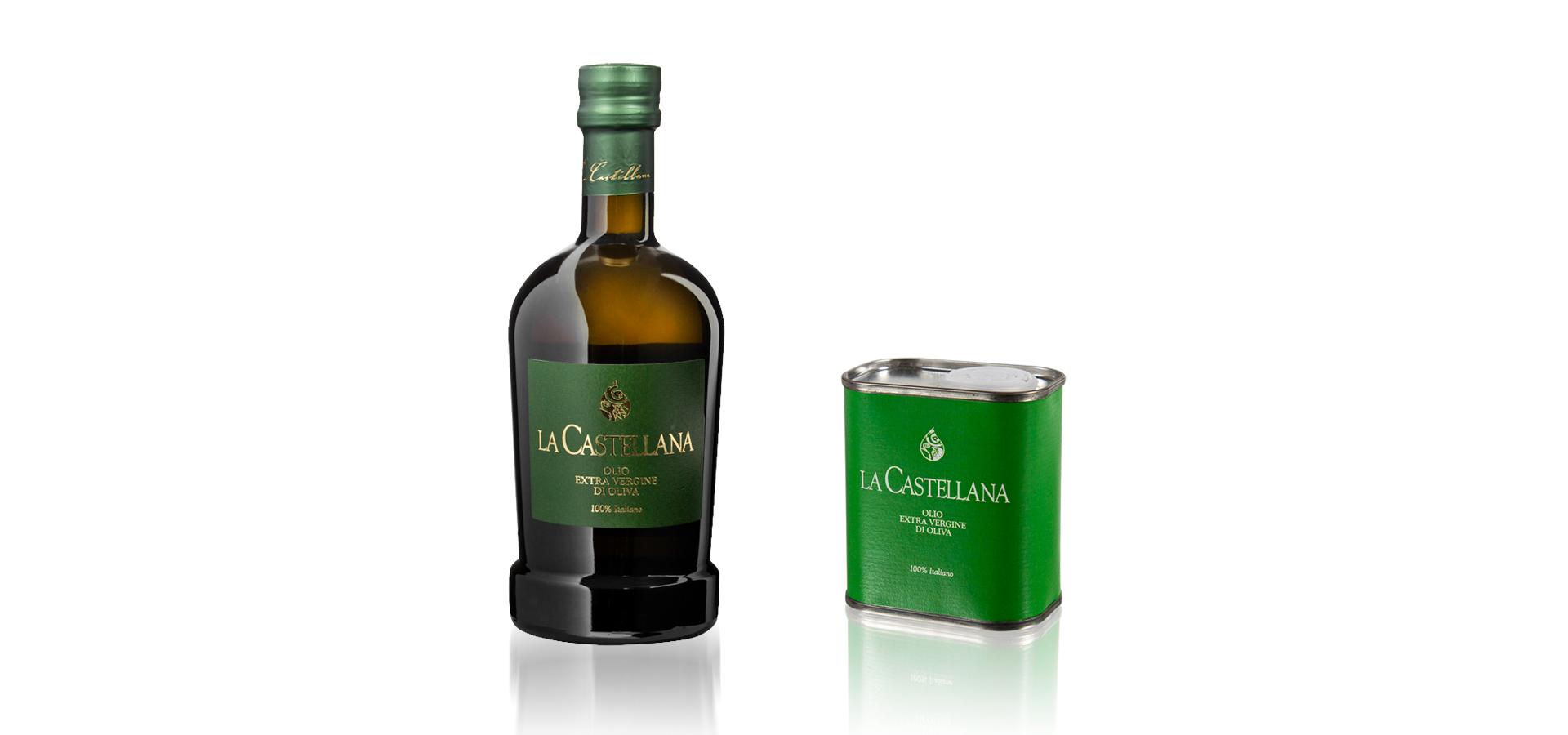 Olio Evo delicato Capsula verde, cultivar leccino e frantoio